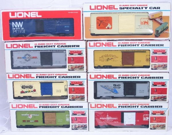 4: NETTE - 8 LIONEL/MPC Freight Cars: