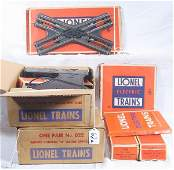 62: NETTE - 7 Pc. Boxed LIONEL Track & Switches:
