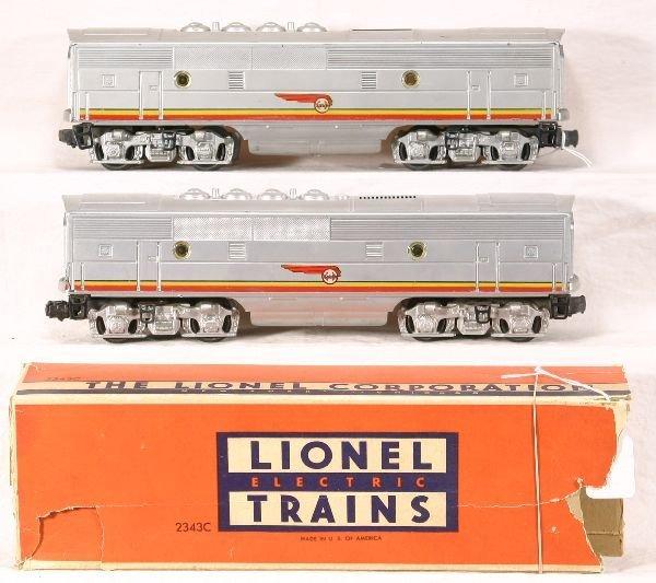 164: NETTE - 2 LIONEL 2343C SF F3 B-Units: