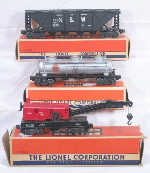 330: NETTE - Boxed LIONEL 6560, 6425 & 6446-25: