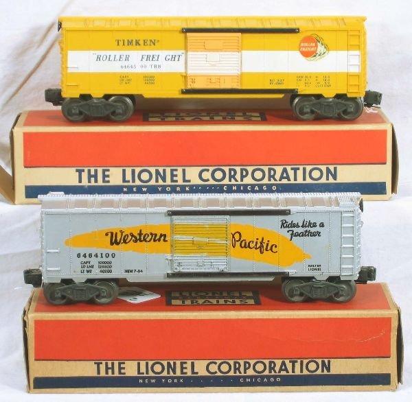 334: NETTE - Boxed LIONEL 6464-100 & -500 Boxcars: