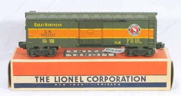 336: NETTE - Boxed LIONEL 6464-450 GN Boxcar: