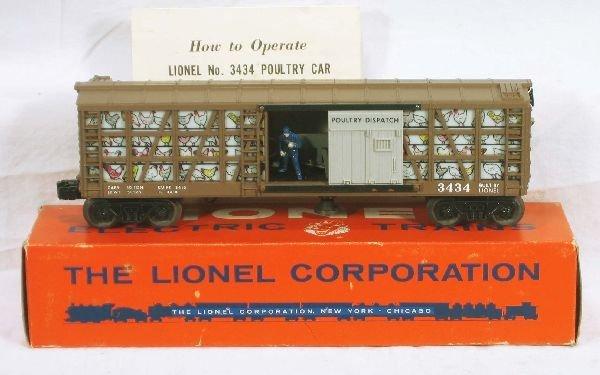 338: NETTE - NMINT Boxed LIONEL 3434 Chicken Car: