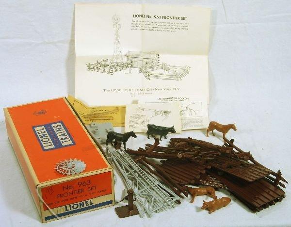340: NETTE - Mint Boxed LIONEL 963 Frontier Set: