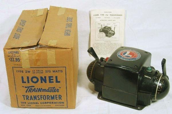 342: NETTE - Boxed LIONEL ZWr 275 Watt Transformer: