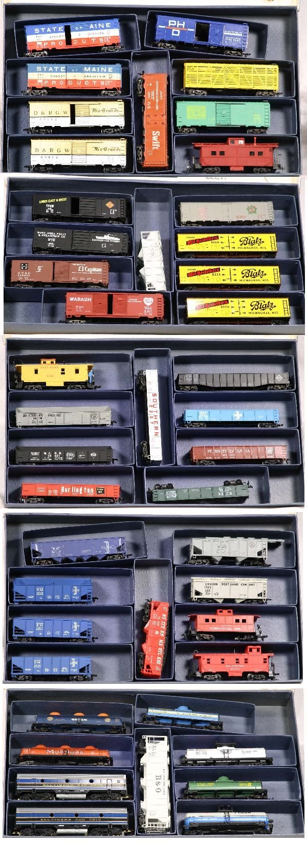 3: NETTE - 44 Pc. Assorted HO Rolling Stock: