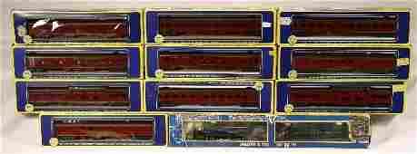 53: NETTE - 11 Pc. AHM HO N&W Steam Passenger Set: