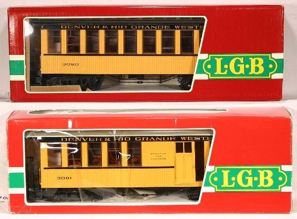13: NETTE - 2 LGB G Ga. D&RGW Pass. Cars: