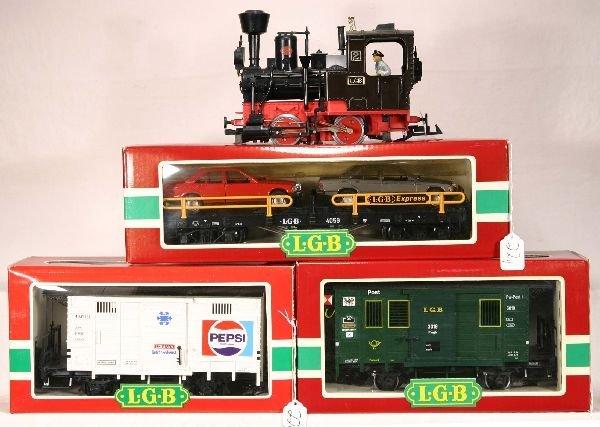 22: NETTE - 4 Pc. LGB G GA. Freight Set: