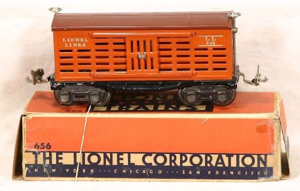 327: NETTE - Boxed Late LIONEL 656 Stock Car: