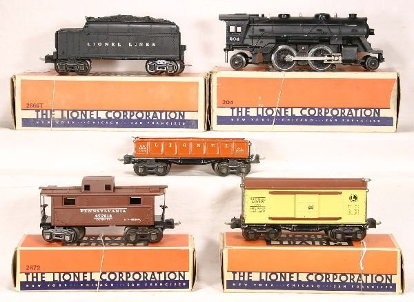 334: NETTE - 5 Pc Boxed  LIONEL Freight Set: