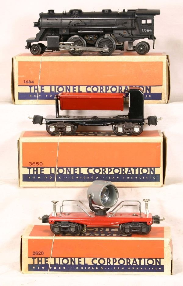336: NETTE - 3 Pc. Boxed LIONEL Lot: