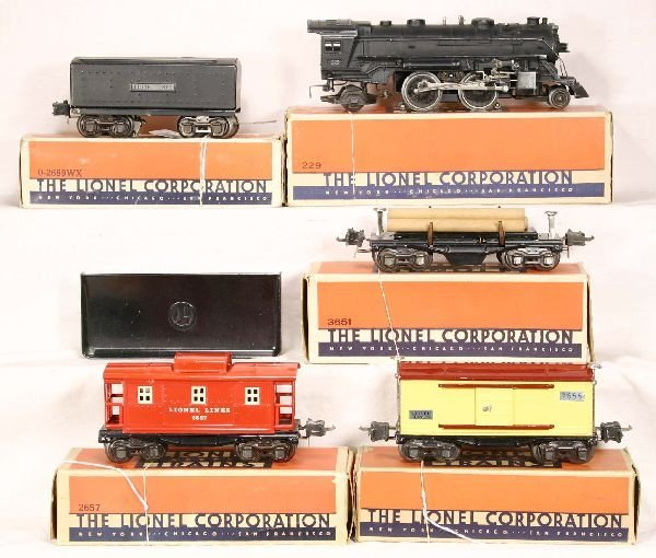 337: NETTE - 5 Pc Boxed  LIONEL Freight Set:
