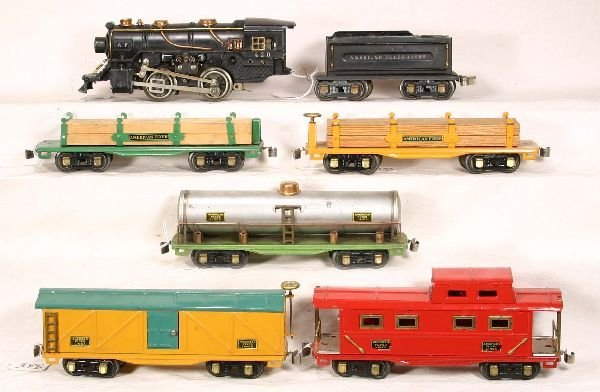344: NETTE - 7 Pc. AM FLYER Steam Freight Set: