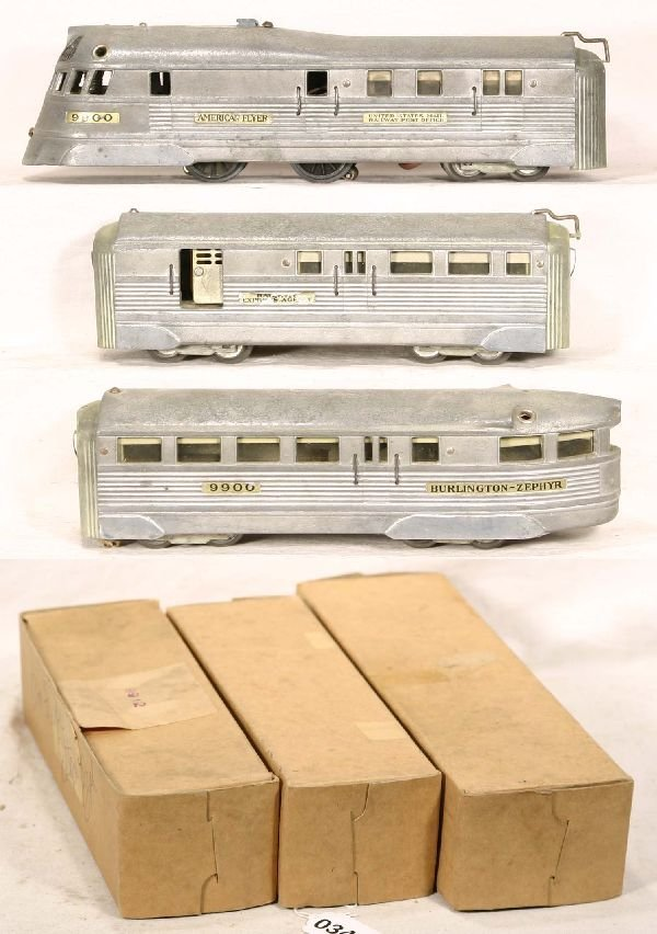 348: NETTE - Boxed AM FLYER 9900 Burlington Zephyr: