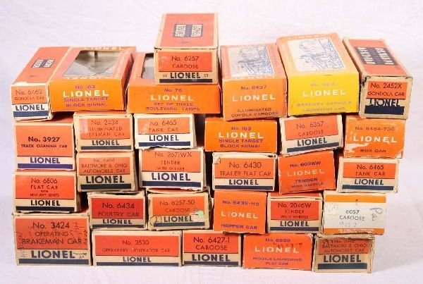 3: NETTE - 29 LIONEL Post War Empty Boxes: