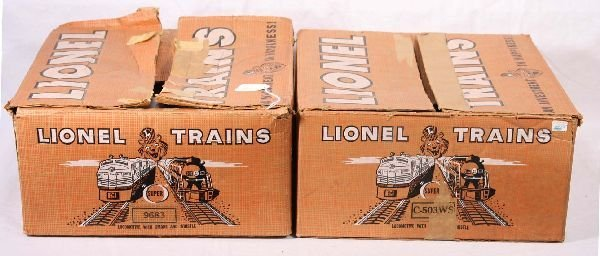 11: NETTE - 2 Empty LIONEL Uncataloged Set Boxes: