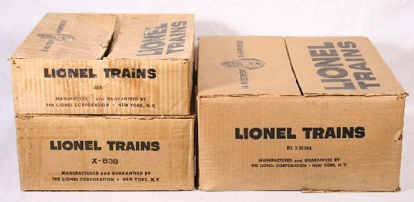 13: NETTE - 3 Empty LIONEL Uncataloged Set Boxes: