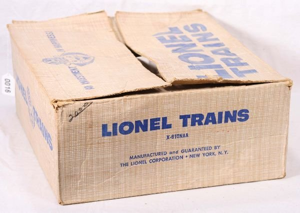 16: NETTE - Empty LIONEL Set Box X-610NAA: