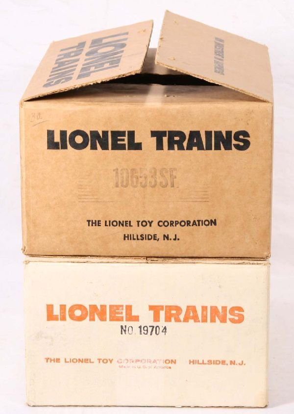 19: NETTE - 2 Empty LIONEL Set Boxes 19704 & 10653SF: