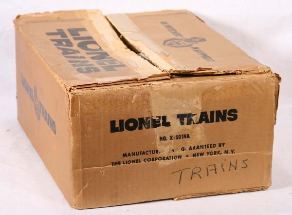 22: NETTE - Empty LIONEL Set Box X-501NA: