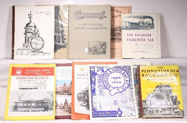 298: NETTE - 11 RAILROAD Books: