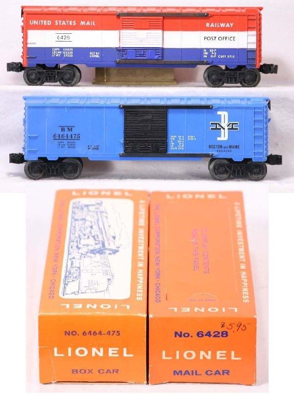 326: NETTE - Mint Boxed LIONEL 6428 & 6464-475 Boxcars: