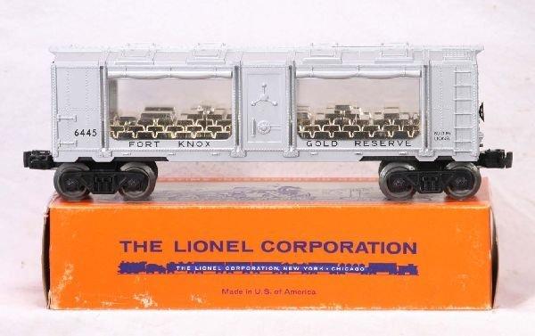 328: NETTE - Mint Boxed LIONEL 6445 Fort Knox Bank Car: