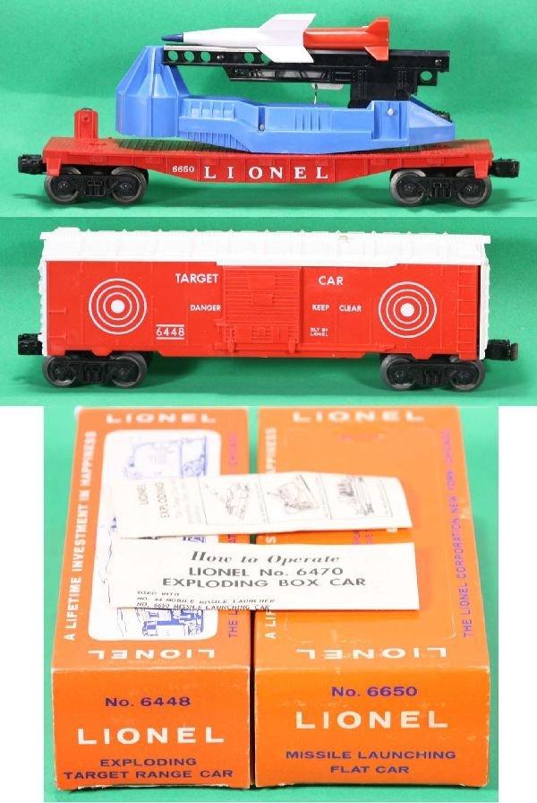 329: NETTE - Mint Boxed LIONEL 6650 & 6448 Space Cars:
