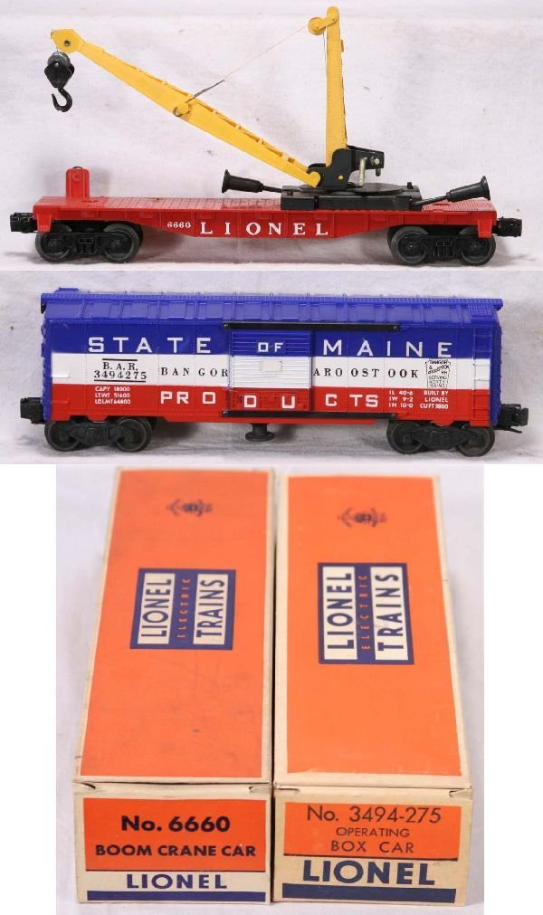 332: NETTE - NMint Boxed LIONEL 3494-275 & 6660 Freight