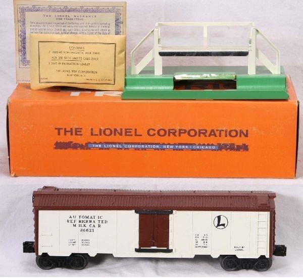 340: NETTE - Mint Boxed LIONEL 3662-1 Milk Car: