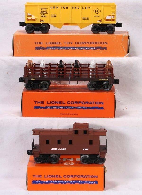 341: NETTE - Mint Boxed LIONEL 6476, 6017 & 1877 Freigh