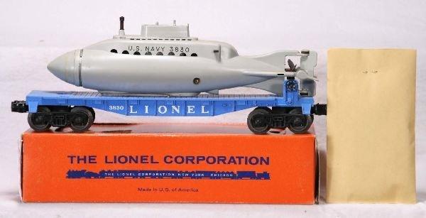 342: NETTE - Mint Boxed LIONEL 3830 Sub Flat:
