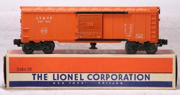 345: NETTE - Mint Boxed LIONEL 3484-25 SF Oper. Boxcar: