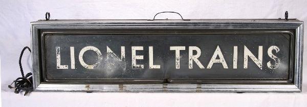 443: NETTE - Unusual 1930s LIONEL Trains Neon Sign: