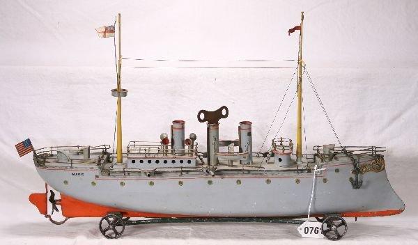 """761: NETTE - 24"""" BING Mars Gun Boat:"""