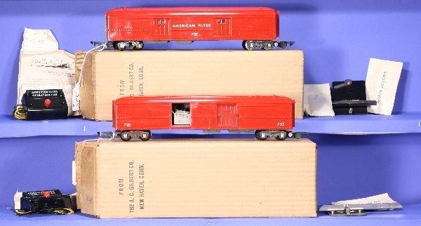 325: NETTE - 2 Mint Boxed AM FLYER S Ga. 732 Operating
