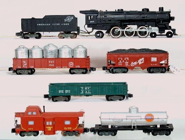 330: NETTE - 6 Pc. AM FLYER S Ga. Steam Freight Set: