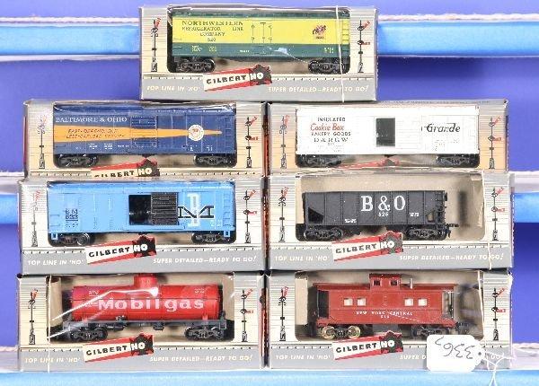 336: NETTE - 7 Boxed AM FLYER HO Ga. Freight Cars: