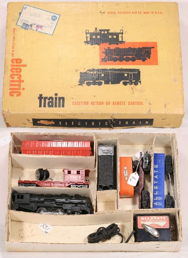 6: NETTE - Boxed MARX Allstate Train Set: