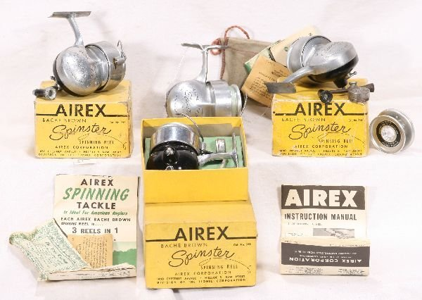 16: NETTE - 4 LIONEL/AIREX 315 Spinster Fishing Reels: