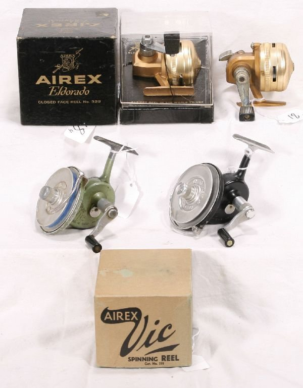 18: NETTE - 4 LIONEL/AIREX Fishing Reels: