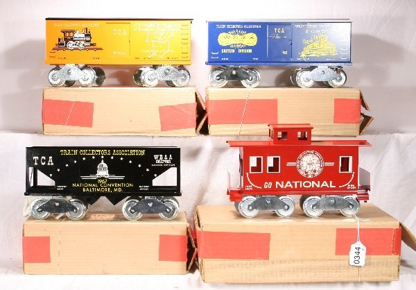 344: NETTE - 4 Early McCoy TCA Freight Cars: