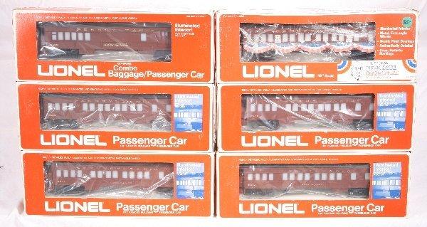 4: NETTE - 6 LIONEL/ MPC PRR Passenger Cars: