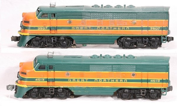 7: NETTE - Custom Painted LIONEL F3 AAs in GN: