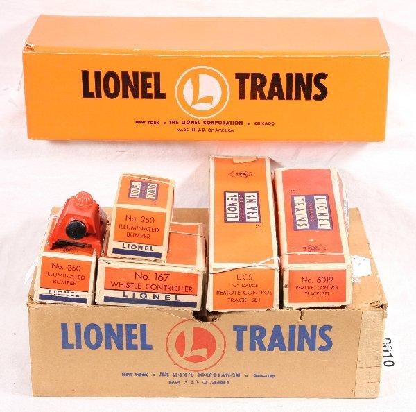 10: NETTE - 7 Pc. LIONEL Post  War Track Lot: