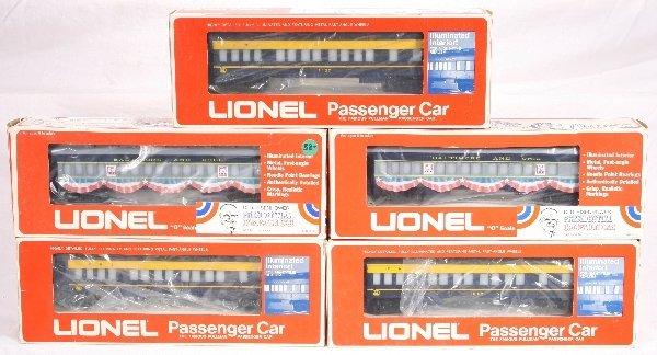 13: NETTE - 5 LIONEL/MPC Passenger Cars: