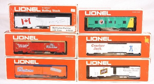 17: NETTE - 6 LIONEL/ MPC Freight Cars: