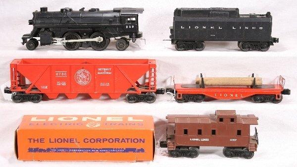 18: NETTE - 5 Pc. LIONEL Steam Freight Set: