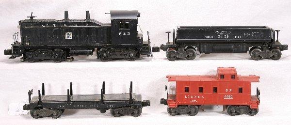 21: NETTE - 4 Pc. LIONEL 623 Diesel Freight Set:
